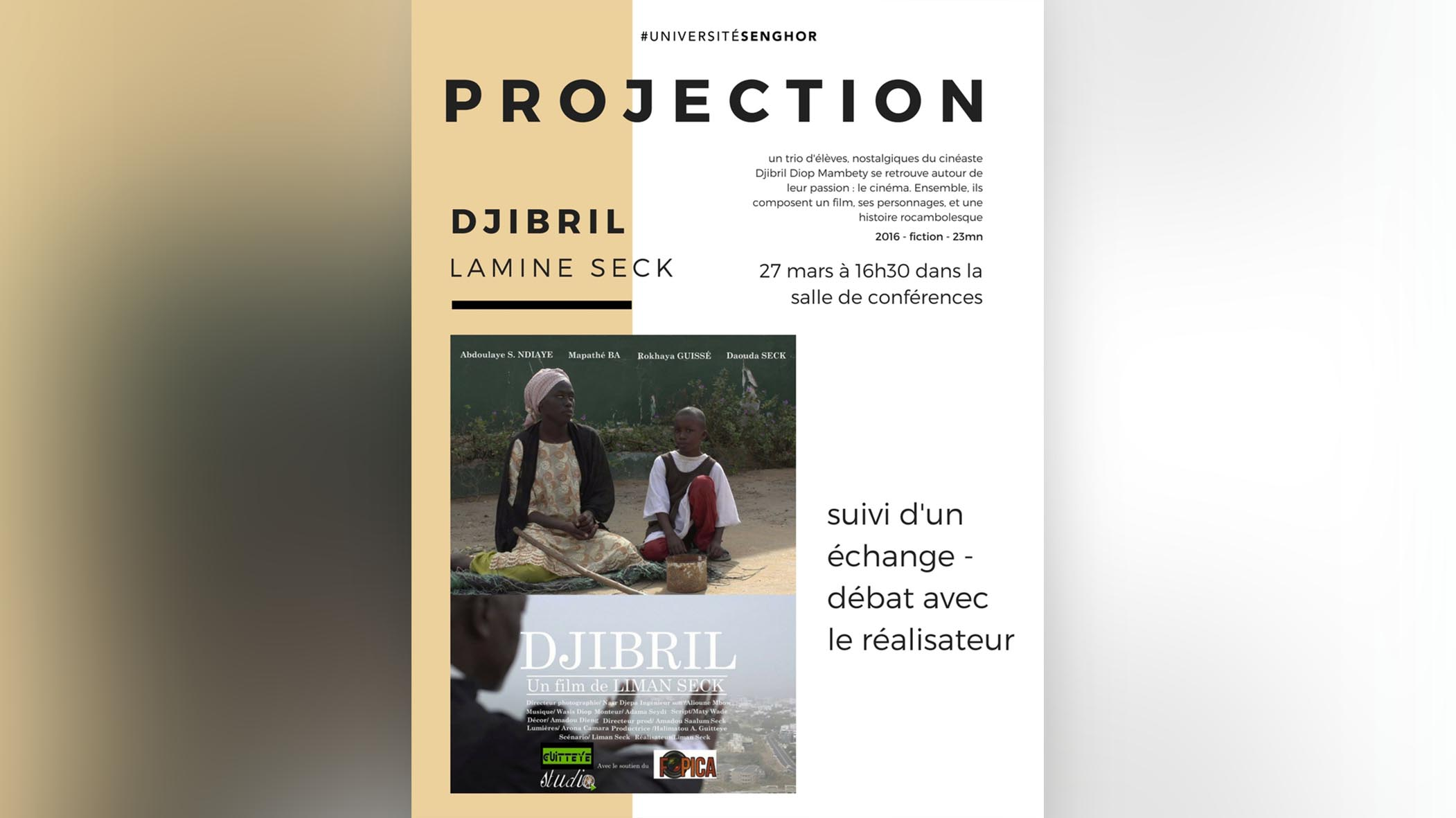 Projection de film DJIBRIL